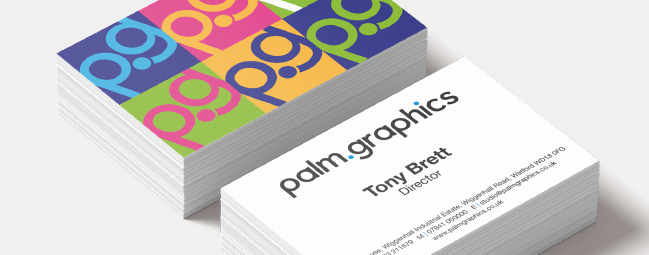 Palm graphics limited 01923 211679 dont get caught out without a business card choose from our silky soft matt laminated cards our high impact gloss laminated cards reheart Images